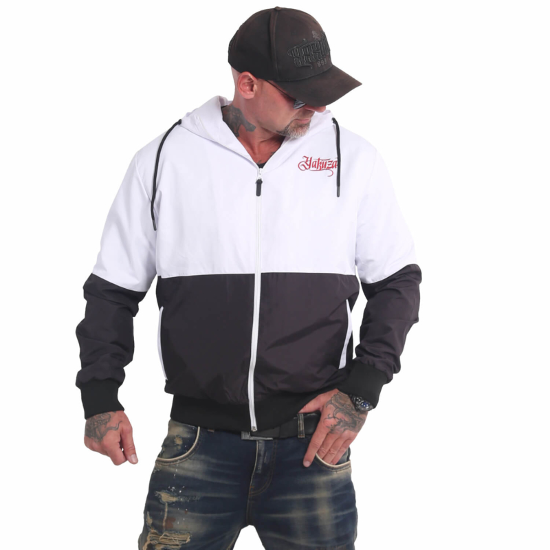 YAKUZA Indian Skull Windbreaker black/white2