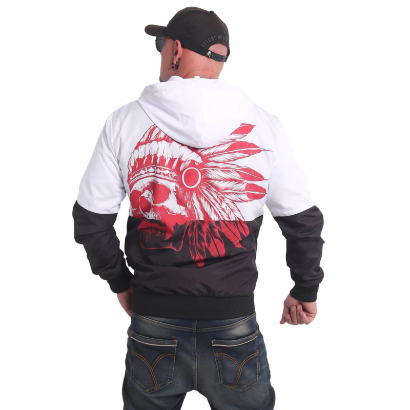 YAKUZA Indian Skull Windbreaker black/white1