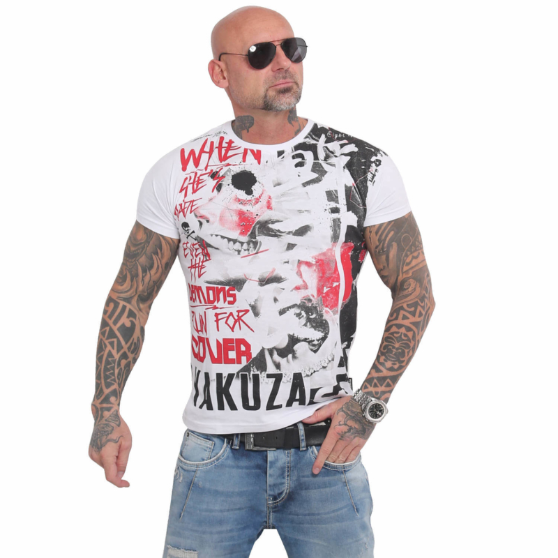 YAKUZA TSB 16013 Run For Cover T-Shirt weiß1